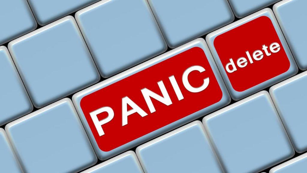 Pánico, borrar
