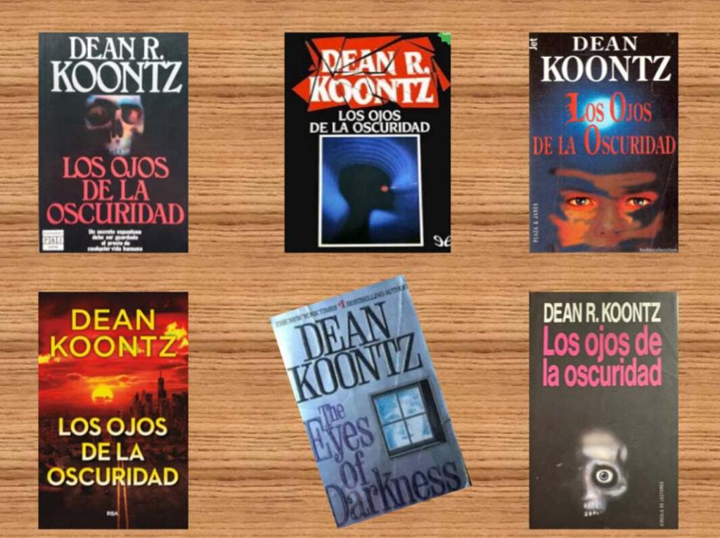 """Caratulas del libro """"En los ojos de la oscuridad"""""""